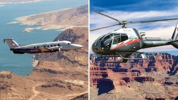 Fly- og helikoptertur til sørlige Grand Canyon