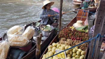 Floating Market with Long-Tail Boat & Thai Village Tour