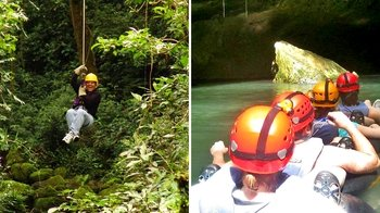 Jungle Zip-line & Cave Tubing Adventure