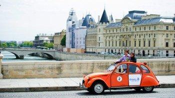 Essential Views in Paris in a Vintage Car