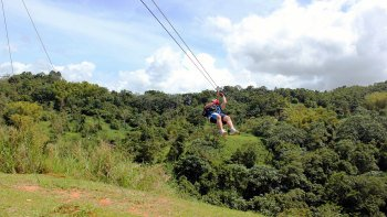 Ziplining in Toro Verde Adventure Park