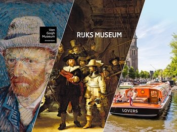 Van Gogh & Rijksmuseum Guided Tour with Lunch Cruise