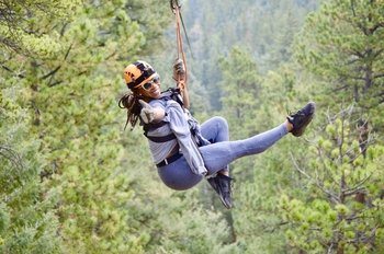 6-Zip line Adventure in the Rocky Mountains