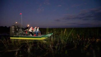 Nighttime airboat tour