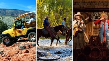 Jeep Tour, Horseback Ride & Western Show with Dinner