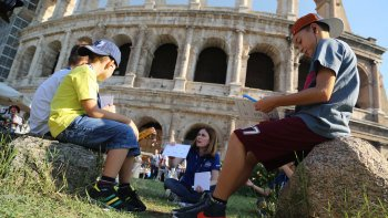 ,Coliseo,Colosseum,Con niños