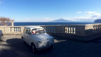 Private Amalfi Coast Sightseeing Tour by Vintage Fiat 600 from Naples