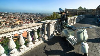 Private Sightseeing Tour by Vintage Vespa from Naples