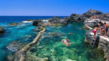 Natural Lava Swimming Pools & Tapas Full-Day Experience