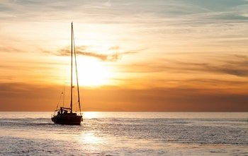 Private Sunset Sailing Yacht Cruise to Rhenia Island