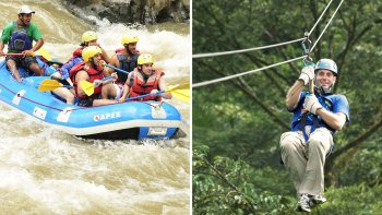 Whitewater Rafting and Canopy