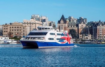 High-Speed Ferry Cruise to Victoria, British Columbia via the Victoria Clip...