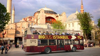 Hop-on, hop-off-bustour door Istanbul