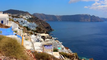 Santorini in 1 Day by Land & Sea
