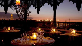 Sunset Dinner at Le Salama over Jemaa el-Fnaa Square