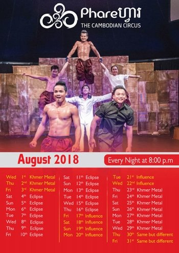 Cambodian Circus Show with Private Transfer