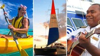 Best of Fiji Combo: Tivua Island all-inclusive sailing & dinner cruise