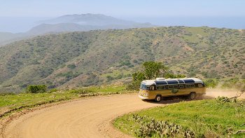 Catalina Island & Inland Vintage Bus Ride with RT Transfers