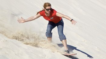 Sandboard Hire at Little Sahara