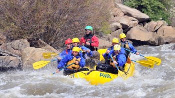 Browns Canyon Rafting with Zipline Tour