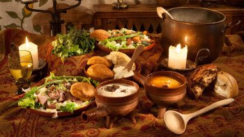 Medieval Feast in a Hanseatic Merchant House
