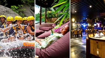 Afternoon White Water Rafting, Spa & Dinner