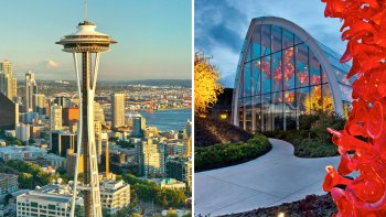 Combo Ticket: Space Needle Observation Deck & Chihuly Garden & Glass