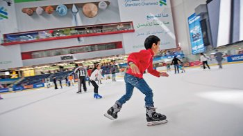 Ice-Skating in The Dubai Mall