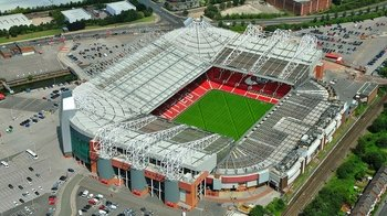 Premier League: Manchester United FC Soccer Game at Old Trafford Stadium
