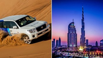 Combo Saver: Burj Khalifa At The Top Admission & Sunset Desert Safari