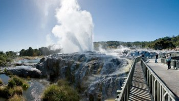 Full-Day Waitomo Caves & Rotorua Highlights Tour with Lunch