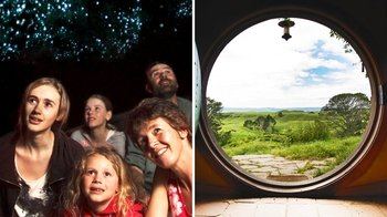 Full-Day Waitomo Caves & Hobbiton Film Set Tour