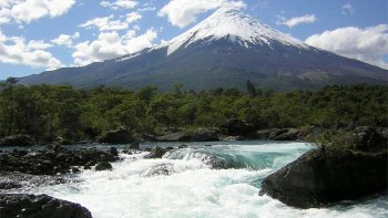 Petrohue Waterfalls & Osorno Volcano Half-Day Tour