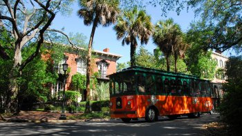 Paula Deen Sightseeing Trolley Tour with Dinner at Lady & Sons