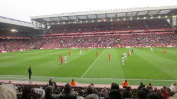 Premier League: Liverpool FC Football Match at Anfield Stadium