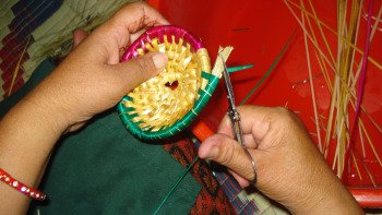 Straw Basket Weaving Workshop at Pokhara
