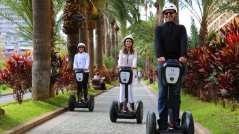 Exploring Puerto de la Cruz on a Segway