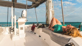 Catamaran Cruise: Allure Lagoon 520 at Morning & Sunset