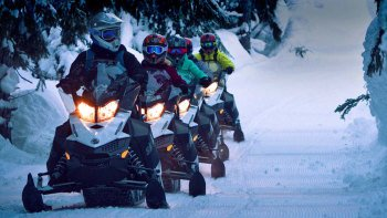 Back-country Intermediate Snowmobile Adventure