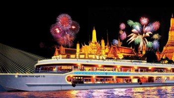 Chao Phraya River Dinner Cruise with Shared Transport