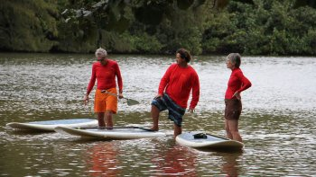 Hanalei Bay Stand-Up Paddle Surfing Lesson