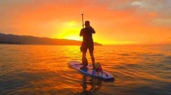 Haleiwa Sunset Stand-Up Paddling Adventure