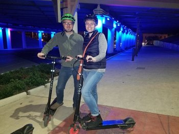 Evening Electric Scooter Tour to the Saga Light Show