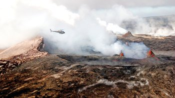 Volcano & Waterfalls Helicopter Tour with Optional Extra Leg Room