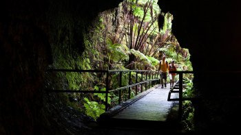 Big Island's Volcanoes National Park & Rainbow Falls Day Trip