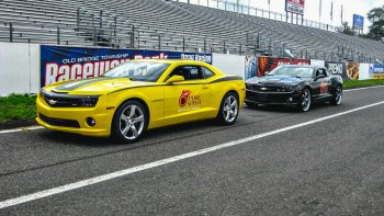 Side-by-Side Camaro Competition Race
