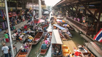 Full-Day Biking Tour to Floating Markets with Lunch