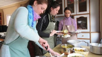 Small-Group Cooking Class at Women's Nonprofit