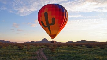 Hot Air Balloon Flight over the Sonoran Desert with Gourmet Cuisine