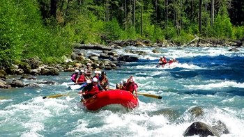 Sauk River Class III Intermediate Whitewater Rafting Tour